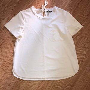 Cream Banana republic blouse